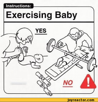 Instructions:Exercising Baby / funny pictures / funny