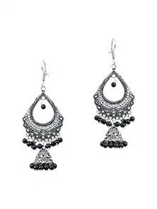 Buy Black Brass Chandellier (set Of 2) Earrings by Waama