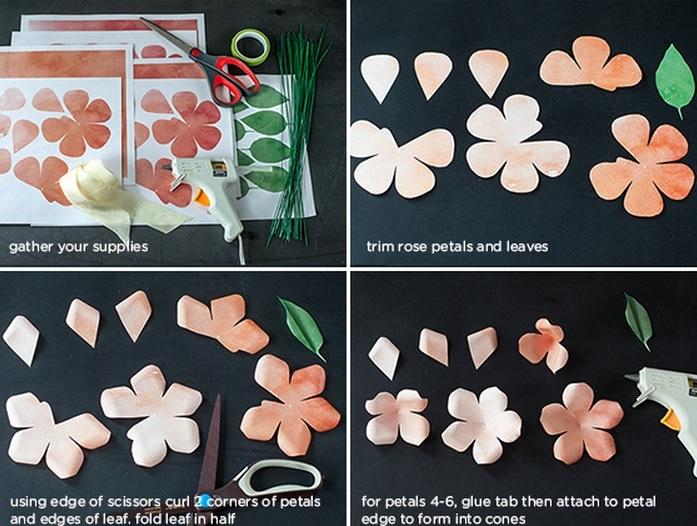 венки и свадебные букеты из бумажных розочек (1) (697x526, 251Kb)