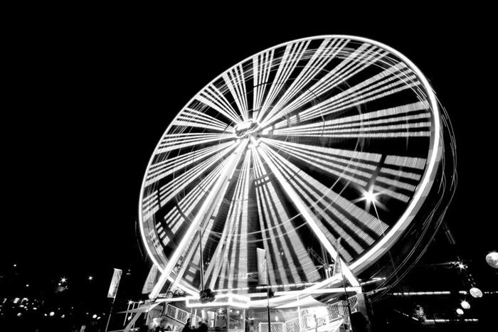 Фотографии колеса обозрения с длинной выдержкой