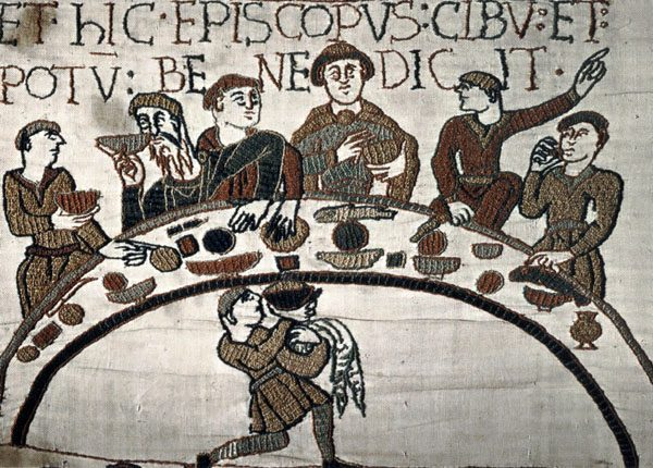 Feast. A carpet of Bayeux (Bayeux). The end of the 11th century.