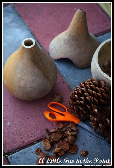 Изумительные сказочные домики из тыквы, полимерной глины и шишек (59) (451x664, 177Kb)