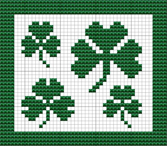 Christmas Potholders free knitting and crochet patterns