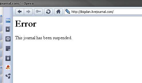 У мафии длинные руки. Первый блог рунета заблокирован