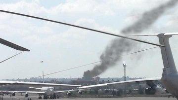 В аэропорту Триполи разбился самолет, 105 человек погибли