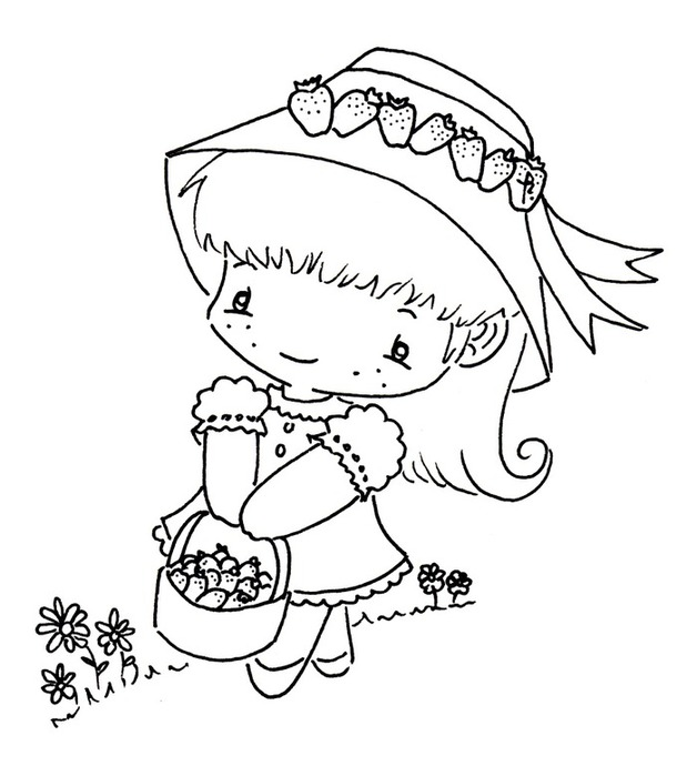 Cute baby for embroidery, coloring and cards... ~ Craft