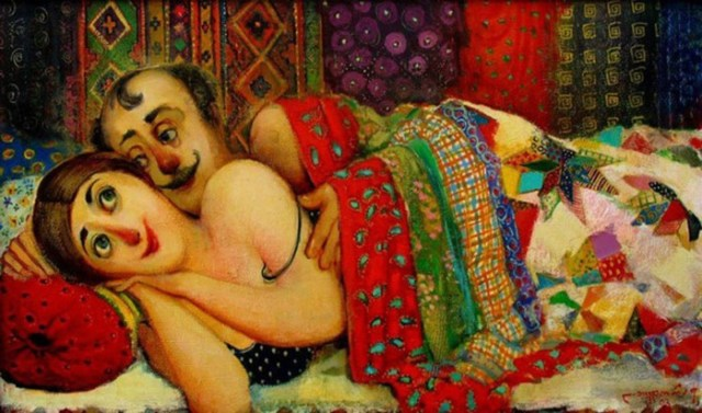 Уютный и тёплый мир в картинах Ладо Тевдорадзе