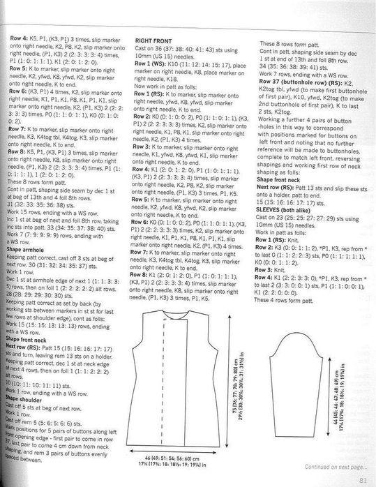 Mẫu đan áo khoác len ~ Craft , handmade blog