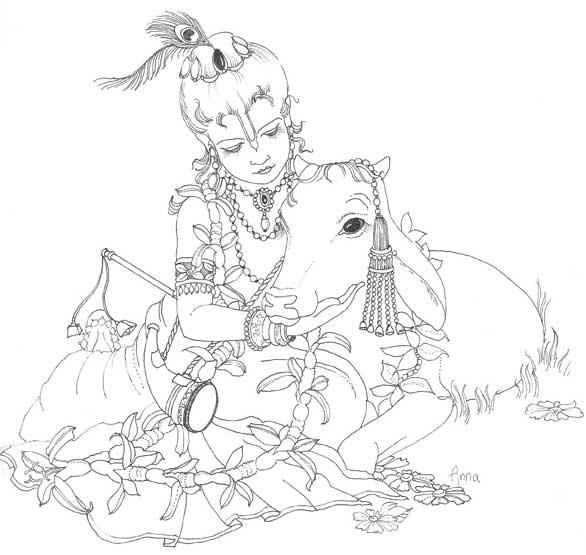 krishna1008: Children's coloring book picture