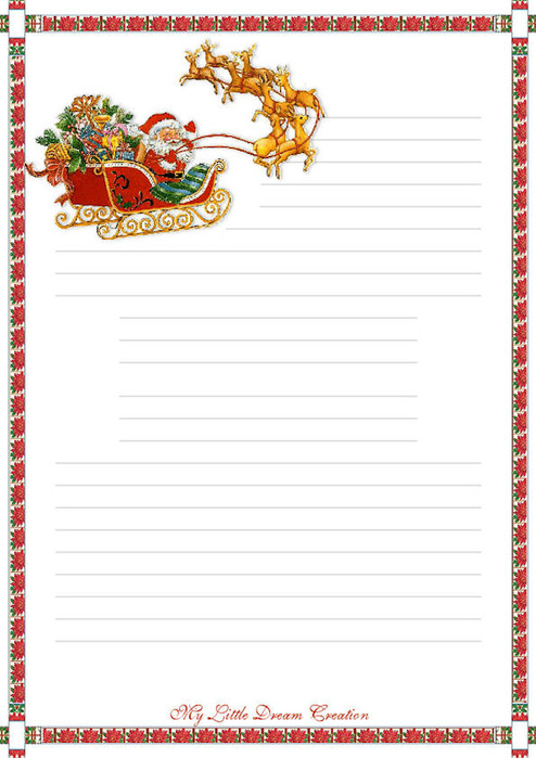 TOUCHING HEARTS LETTERS TO SANTA CLAUS Templates Free
