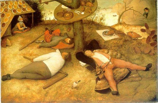 BrueghelLand_of_Cockaignedetail (700x458, 82Kb)