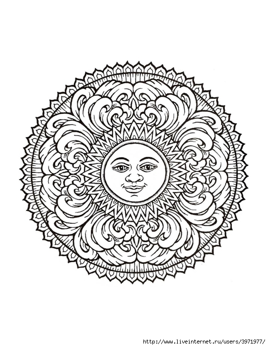 Free Coloring Pages Of Mystic Mandala