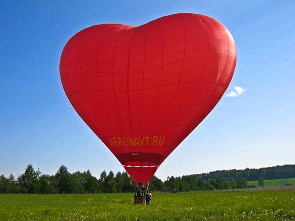 Романтическое предложение на воздушном шаре