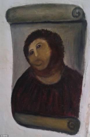 Волосатая обезьяна! Гримасы реставрации картин: как пенсионерка превратила Иисуса Христа в нечто