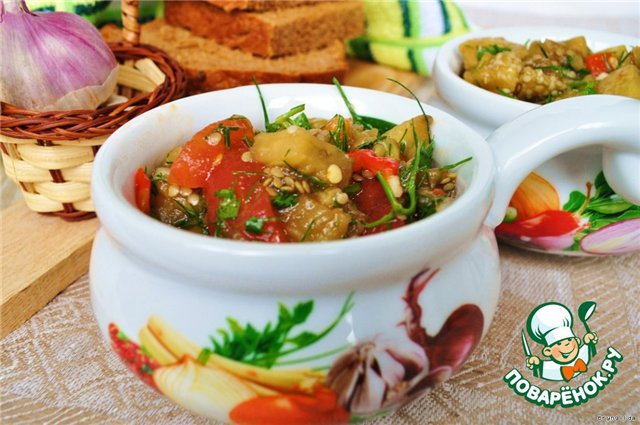 Салат из запеченных овощей (Очень простой и полезный салат из печеных овощей украсит любой стол !!!)))