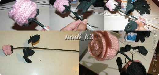 How to tie a rose hook.  Master Class (12) (520x247, 79Kb)