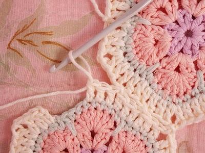 Flower crochet piece AFRICAN FLOWER for knitting toys (36) (400x300, 116Kb)