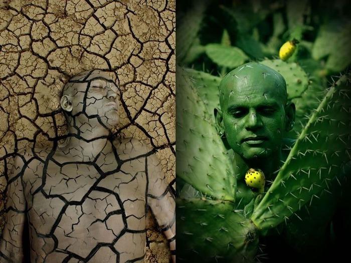 Йоханнес Стёттер превращает людей в животных, фрукты и пейзажи