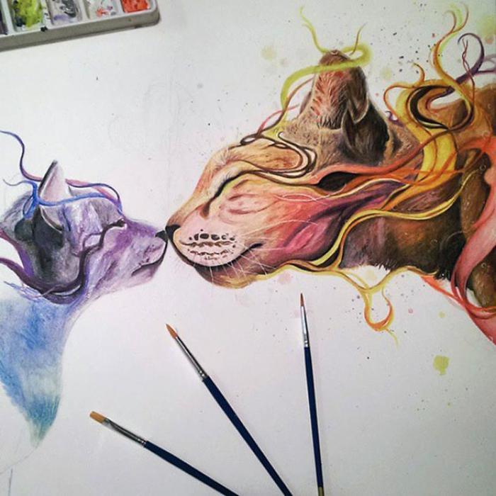 Художница самоучка и ее прекрасные рисунки!