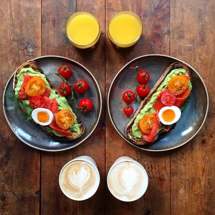 По настоящему влюбленные пары готовят только симметричные завтраки для своей половинки