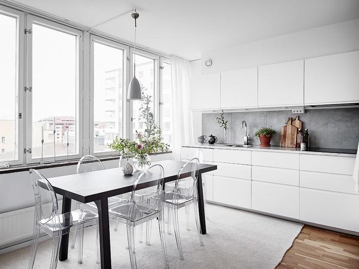 Пример красивого минимализма в однокомнатной квартире