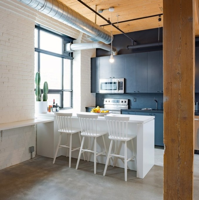 Интерьер квартиры со встроенной спальней
