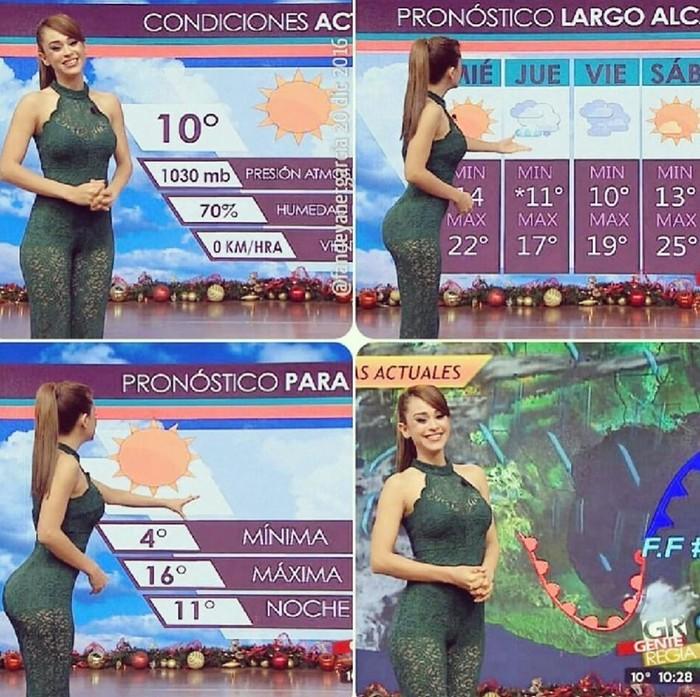 Латиноамериканская ведущая прогноза погоды