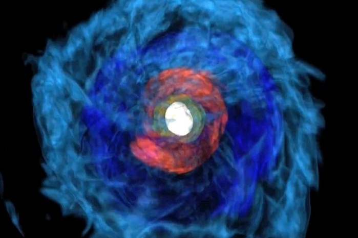 Учёные впервые наблюдали слияние двух нейтронных звёзд