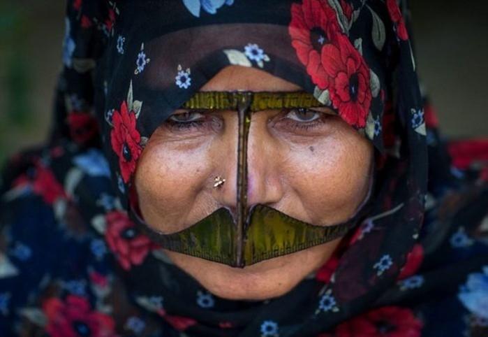 Зачем иранские женщины носят маски на лице?