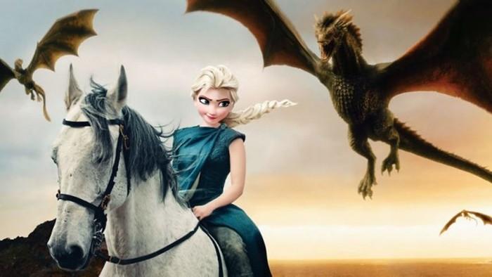 «Игра престолов», иллюстрированная персонажами Диснея