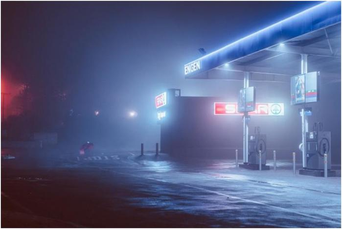 Ночные города в неоновом свете. Фотограф Эльза Бледа