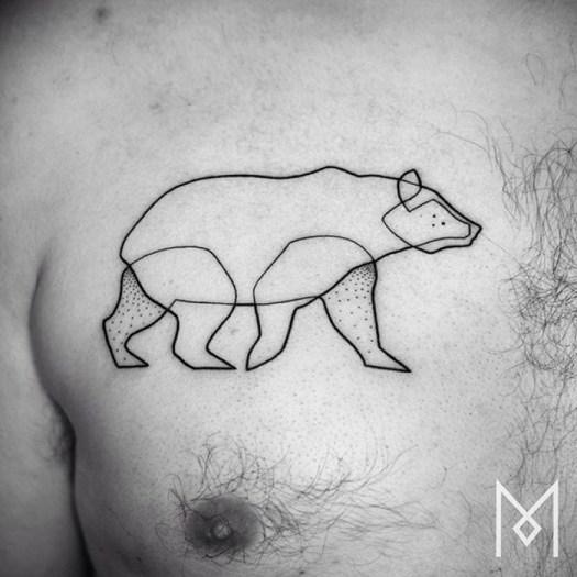 Крутые татуировки в одну линию