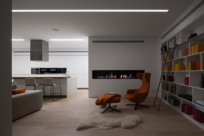 Интерьер квартиры в Киеве— проект Light