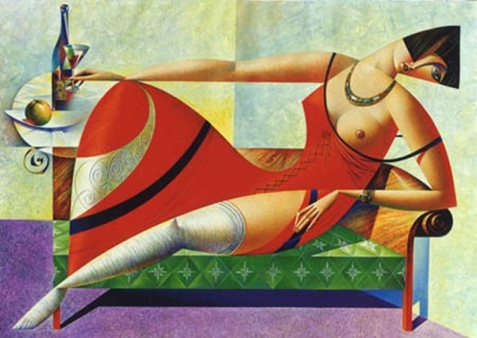 Кубические женщины художника Георгия Курасова