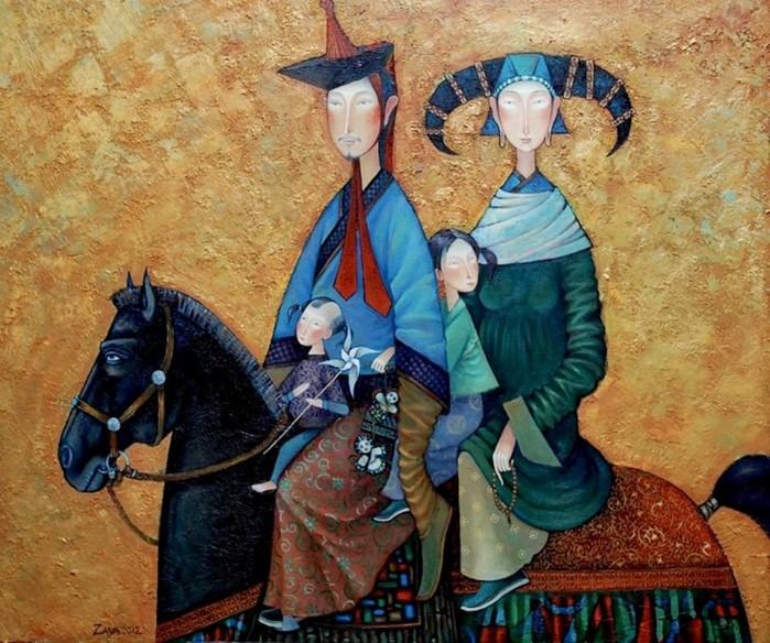 Современный монгольский художник Заясайхан Самбуу