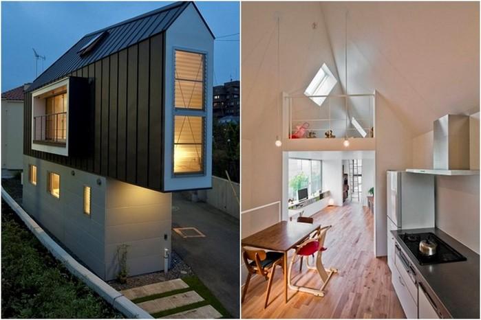 Узкий дом в Японии с широчайшими возможностями внутри