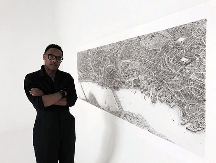 Художник попамяти рисует города Англии обычной шариковой ручкой