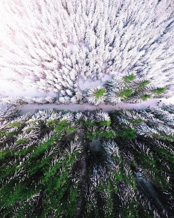 Красота Карпат с высоты птичьего полета