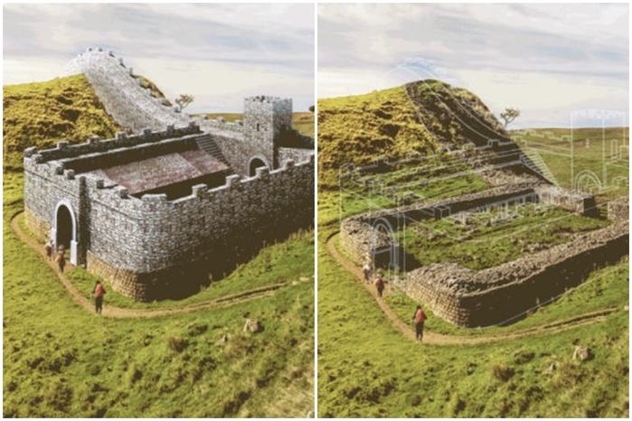 Проект Expedia восстанавливает древние руины в gif анимации
