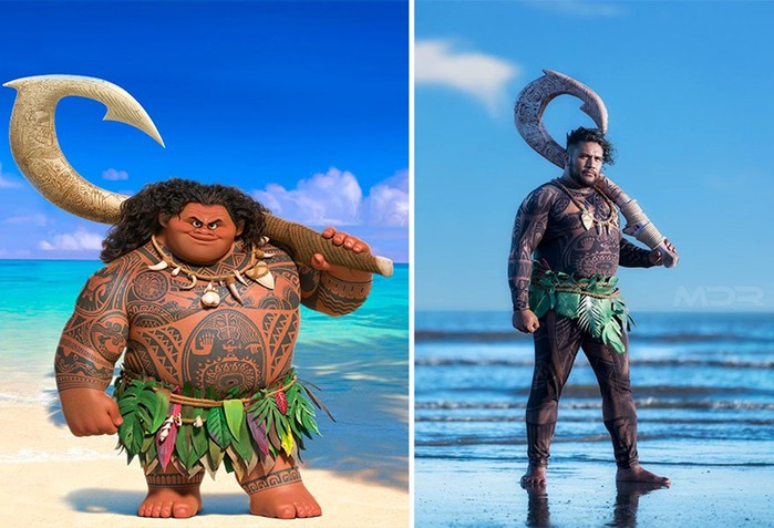 Косплей Мауи из мультфильма «Моана»