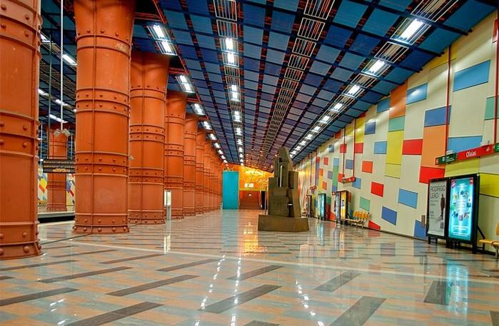 Самые красивые станции метро в Европе
