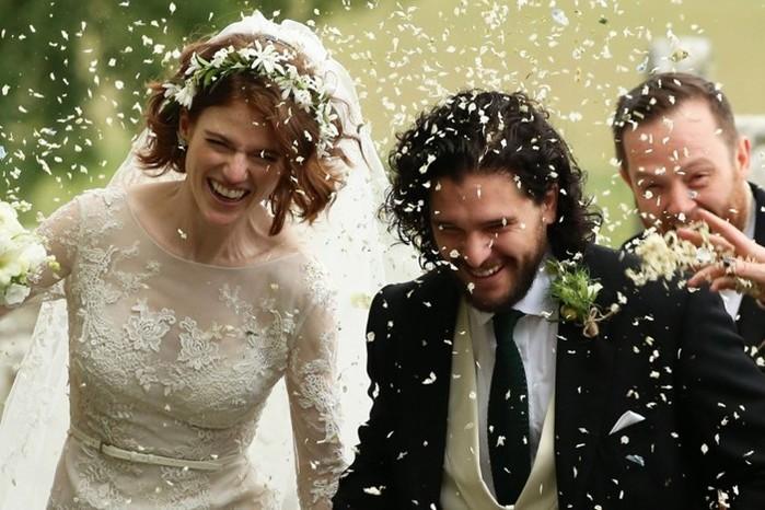 Фотографии свадьбы Джона Сноу и Игритт: актеры сериала «Игра престолов» поженились в Шотландии