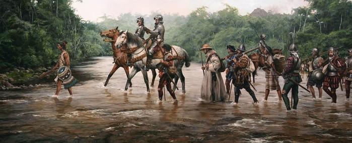 Почему Фернандо Кортес победил ацтеков: великий полководец или религия?