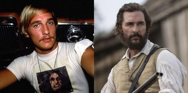 Сравнение знаменитых актеров в их первых фильмах и сейчас