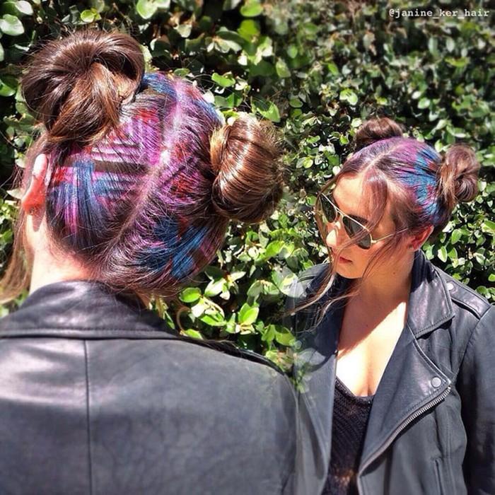 Как делают граффити... на волосах