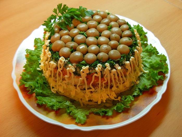 Вкусные оригинальные рецепты! Салат «Грибная полянка»