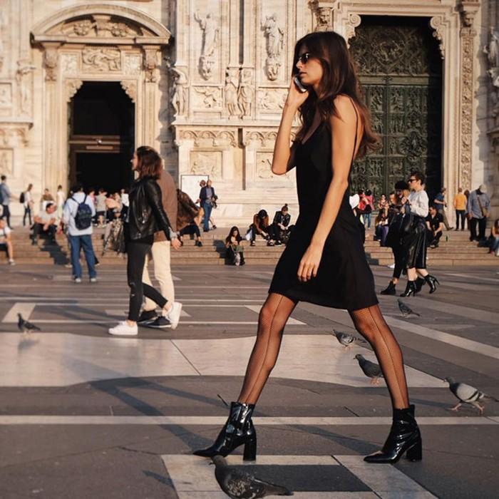 С чем носить фантазийные колготки: 10 ярких образов
