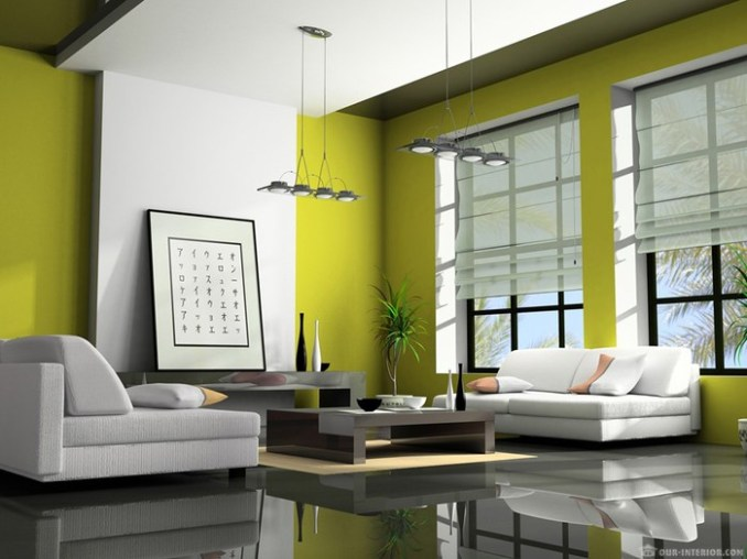 Зеленый цвет в современном интерьере