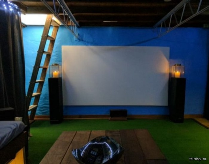 Как устроить кинотеатр в подвале дома