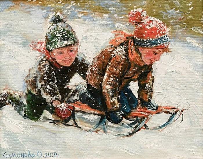 Детские картины Ольги Симоновой